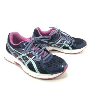 Asics Gel Contend 3 Navy Pink Running Shoes Size 9